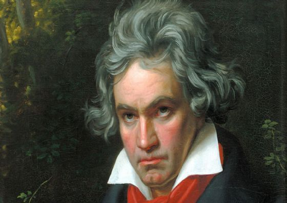Stieler, Joseph Karl: Portrait of Ludwig van Beethoven, German Composer and Pianist (detail). Fine Art Print/Poster. Sizes: A4/A3/A2/A1 (001490)